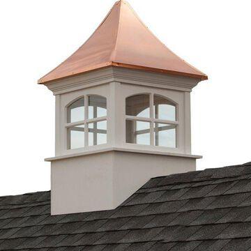 Westport Vinyl Cupola With Copper Roof, 30