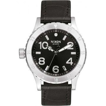 Nixon A467-1886 Womens Black Leather Band With Black Analog Dial Genuine Watch