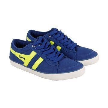 Gola Comet Ocean Blue Neon Yellow Mens Low Top Sneakers