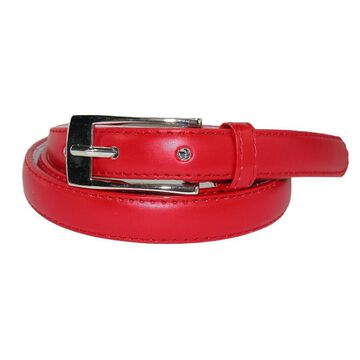 CTM Women's Skinny Leather Dress Belt (Pack of 2)