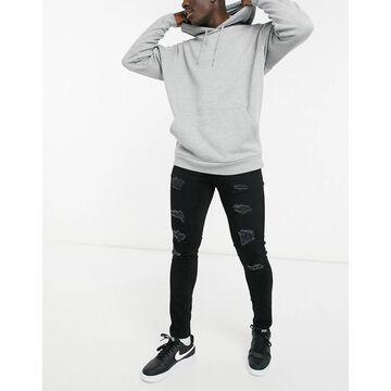 Only & Sons slim fit jeans in blackwash