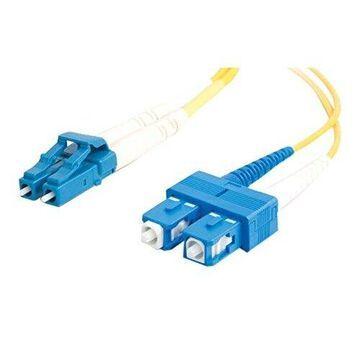 C2G LC-SC 9/125 OS1 Duplex Singlemode PVC Fiber Optic Cable (USA-Made) - Patch cable - LC single mode (M) - SC single mode (M) - 16.4 ft - fiber optic - 9 / 125 micron - OS1 - yellow