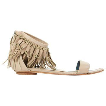 Sergio Rossi Beige Leather Sandals