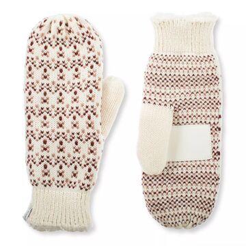 Women's isotoner Lined Water Repellent Birdseye Knit Mitten