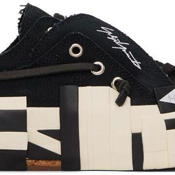Yohji Yamamoto Black xVESSEL Edition Layered Low Top Sneakers
