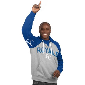 Kansas City Royals Hands High Pullover Hoodie - Gray