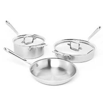 All Clad d5 Stainless Brushed 5-Piece Cookware Set