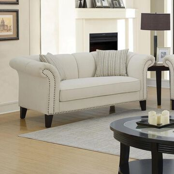 Furniture of America Navelle Beige Loveseat
