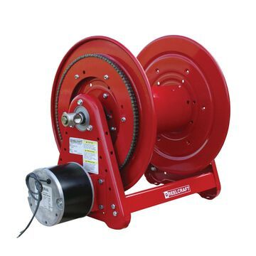 EB37118 L12D 1 in. x 100 ft. Heavy Duty 300 PSI Electric Motor Driven without Hose Reel, Red