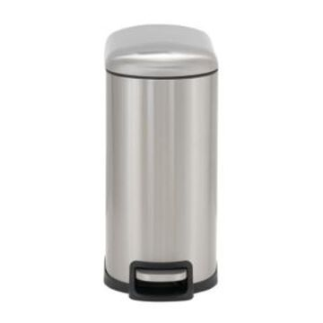 Household Essentials Stainless Steel 10L Tuscany Narrow Trash Bin