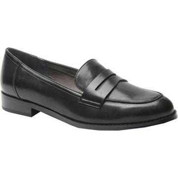 Ros Hommerson Women's Delta Penny Loafer Black Leather