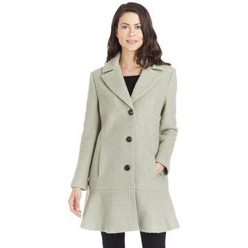 Kensie Women's Signature Peplum Coat
