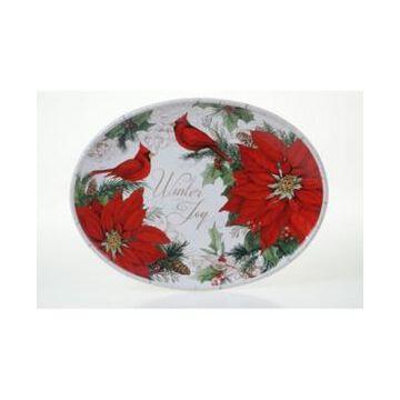 Certified International Winter Garden Oval Platter