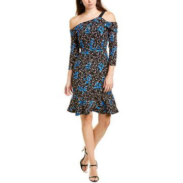 Saloni Tricia Silk Sheath Dress