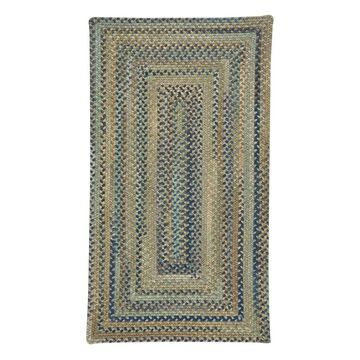 Tooele Braided Concentric Rectangle Rug