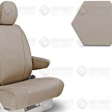 NorthWest WorkPro Hygienic Vinyl Seat Covers, 3rd-Row Seat Covers in Tan, B0