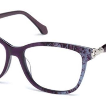 Roberto Cavalli RC 5011 ASSO 083 Womenas Glasses Purple Size 55 - Free Lenses - HSA/FSA Insurance - Blue Light Block Available