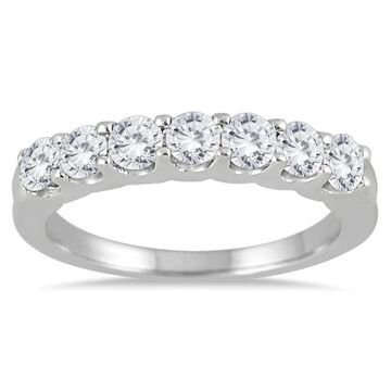 Marquee Jewels 14k White Gold 1ct TDW Prong-set 7-stone Diamond Band