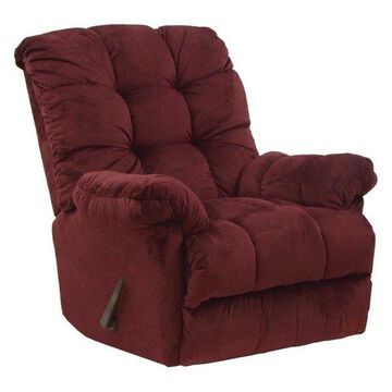 Chaise Rocker Recliner in Merlot