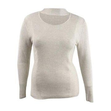 INC International Concepts Women's Cutout Turtleneck Sweater
