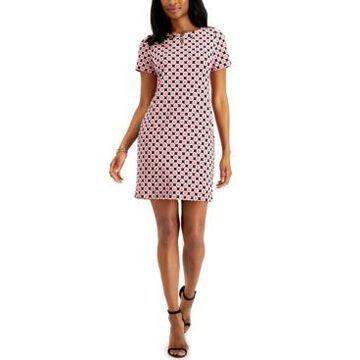 Anne Klein Geometric-Print Shift Dress