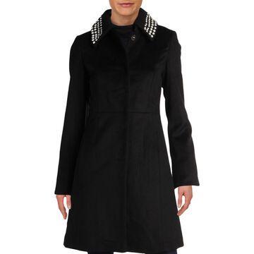 Karl Lagerfeld Paris Womens Winter Wool Dress Coat