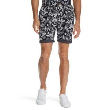 Tallia Men's Modern-Fit Stretch Camo Floral Print Shorts