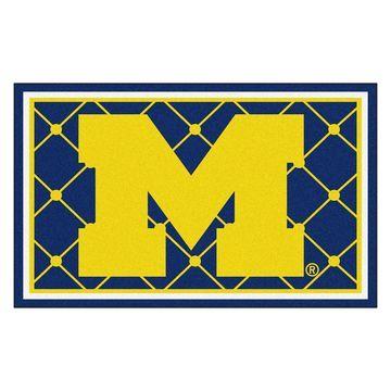 Fanmats NCAA University of Michigan Area Rug (4' x 6')