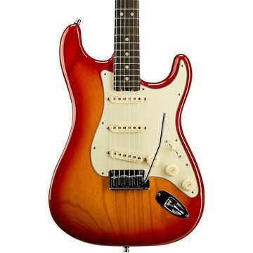 Fender American Elite Stratocaster Ebony Fingerboard Guitar Aged Cherry Burst
