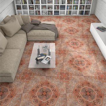 SomerTile 19.75x19.75-inch Burlington Red Ceramic Floor and Wall Tile (6 tiles/16.67 sqft.)