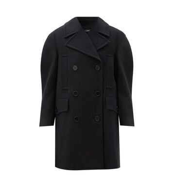 Givenchy - Double-breasted Felted-wool Pea Coat - Womens - Black