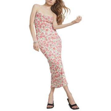 Bardot Alexa Lace-Up-Back Slip Dress