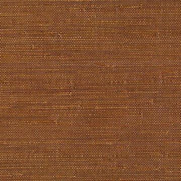 Kenneth James Moriko Brown Grasscloth Wallpaper