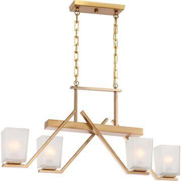Nuvo Lighting Timone Brass Finish 4-light Trestle - Length 36.00