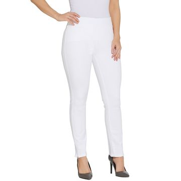 NYDJ Alina Pull-on Ankle Jeans - Optic White