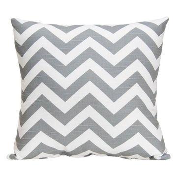 Swizzle Chevron Pillow, Gray
