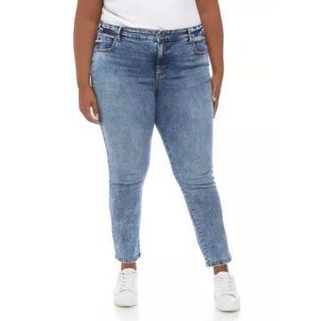 Gloria Vanderbilt Women's Plus Size High Rise Skinny Jeans - -