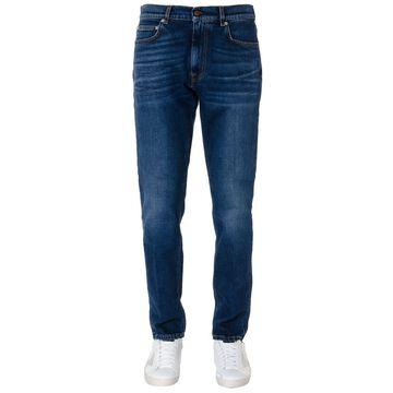 Mauro Grifoni Grifoni Dark Blue Cotton Jeans
