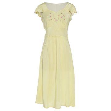 John Galliano Yellow Synthetic Dresses