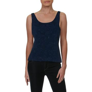Alex Evenings Womens Tank Top Knit Glitter - S