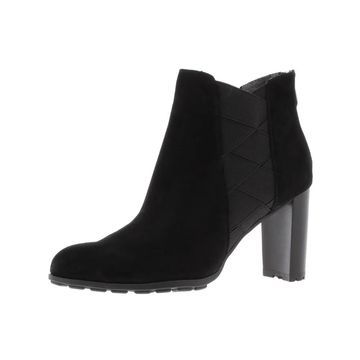 Adrienne Vittadini Womens Trinie Ankle Boots Faux Suede Block Heel
