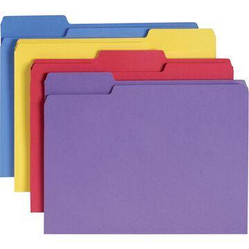 Smead 10349 Antimicrobial Folders 1-Ply Ltr. 1/3 Cut 11 Pt. 100/BX Asst.
