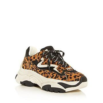 Ash Women's As-Addict Ter Leopard Print Calf Hair Low-Top Sneakers
