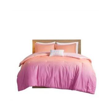 Mi Zone Glimmer Full/Queen Metallic Glitter Printed Reversible Comforter, Set of 4 Bedding