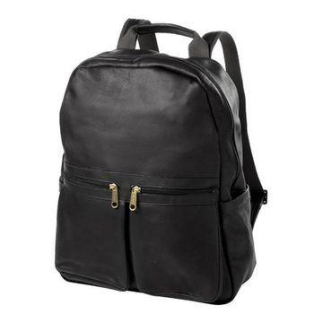 CLAVA City Pocket Laptop Backpack Vachetta Black - US One Size (Size None)