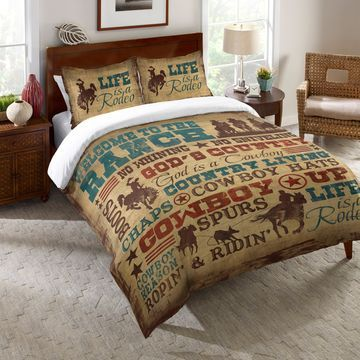 Laural Home Rodeo Words Comforter