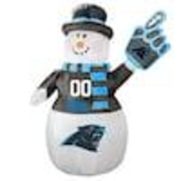Boelter Brands Carolina Panthers 7-ft Lighted Snowman Christmas Inflatable