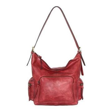 Nino Bossi Women's Willa Leather Shoulder Bag Red - US Women's One Size (Size None)