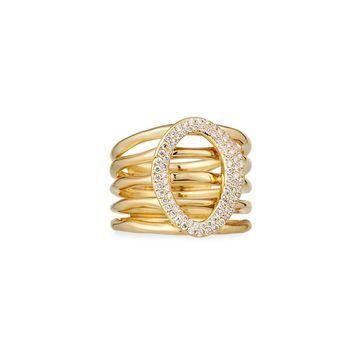 18K Cherish Link Multi-Band Ring w/ Diamonds