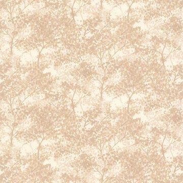 Brewster Lacey Taupe Vines Wallpaper